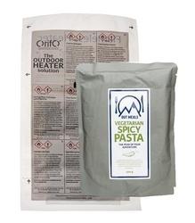 Självvärmande vegetarisk pasta med kidneybönor