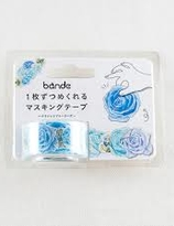 Blue Rose  masking roll sticker