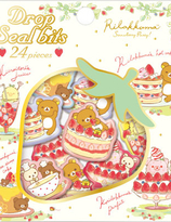 "Rilakkuma ""Strawberry Party"" Collection Drop Seal Bits Stickers"