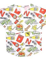Harajuku ACDC  Yummy Hamburger T-shirt