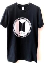 BTS T-shirt - Svart  med silver logo