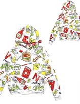 Harajuku ACDC Yummy Hamburger  Hoodie