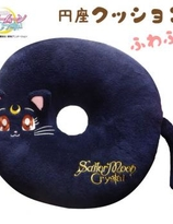 Sailor moon Luna Cat Crystal Fluffy circle cushion