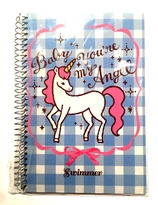 "Swimmer Unicorn "" You 're my Angel baby "" notebook"
