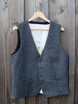 Väst i Grå-tweed