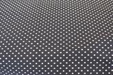 Marinblå  botten med vita prickar
