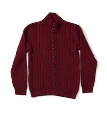 Knitted Jacket Cloud Burgundy