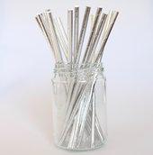 Sugrör - Metallic - Silver