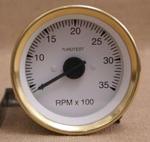 Varvräknare 85 mm 3500 rpm svart, mässi