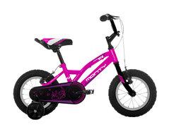 """Barncykel 102 Nano med 12"""" hjul - Rosa, 2-5 år."""