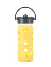 Lifefactory Straw Cap Bottle | Vattenflaska med Sugrör - 350 ml, Lemon