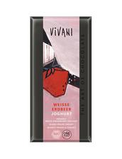 Vivani White Strawberry Yoghurt, Ekologisk - Vit Choklad med Jordgubb/Yoghurt
