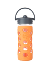 Lifefactory Straw Cap Bottle | Vattenflaska med Sugrör - 350 ml, Orange