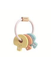 Skallra Nyckelknippa PlanToys - Baby Key Rattle, Pastell