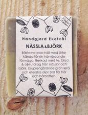 Ekologisk Handgjord Tvål – Nässla & Björk, 100 g