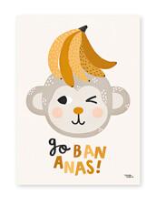 Michelle Carlsund Poster Go Bananas - 50 x 70 cm