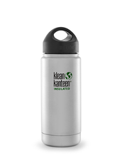 Klean Kanteen Wide Isolerad Flaska - Brushed Stainless, 473 ml