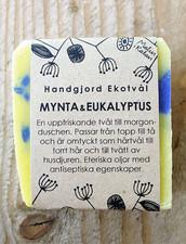 Ekologisk Handgjord Tvål – Mynta & Eukalyptus, 100 g