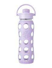 Vattenflaska Glas Flip Cap Lifefactory - 650 ml, Lilac