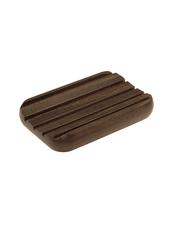 Tvålhållare i Värmebehandlat Trä med små Gummifötter - Brun
