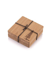 Glasunderlägg i Bambu - Tall, 4-pack