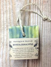 Ekologisk Handgjord Tvål på Hamparep  – Mynta & Eukalyptus, 160 g