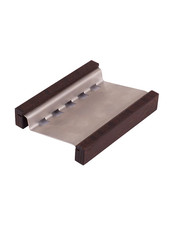 Tvålhållare i Värmebehandlat Trä & Rostfritt stål - Vinklad