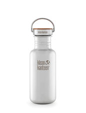Vattenflaska Rostfritt Stål Klean Kanteen Bambu Reflect - Brushed Stainless, 532 ml