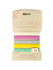 Kooshoo Hair Ties - Hårsnodd i Ekologisk Bomull, Colorful