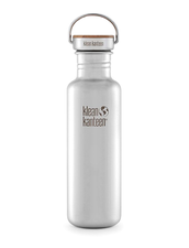 Vattenflaska Rostfritt Stål Klean Kanteen Bambu Reflect - Brushed Stainless, 800 ml
