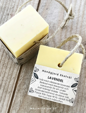 Ekologisk Handgjord Tvål på Hamparep  – Lavendel, 160 g