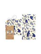 Bee´s Wrap Naturligt och Ekovänligt Folie - Lunch Pack Bees and Bears, 3-pack