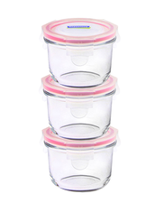 Matlådor i Glas Glasslock - Baby Meal Set Mikro, 160 ml, 3-pack