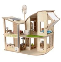 Miljösmart dockhus med möbler