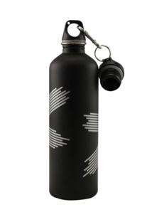 Vattenflaska 500 ml matt svart