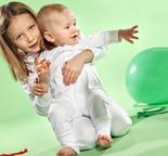 Ekologisk babypyjamas 0-12 mån