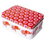 Liten matbox röda elefanter