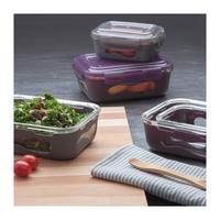 Stor matlåda glas med silikonhölje