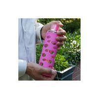 Vattenflaska glas med silikonhölje 570ml