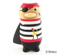 Ficklampa pirat med randig tröja