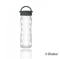 Lifefactory vattenflaska i glas, 475 ml