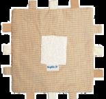 Tvättlappsfilt naturbrun/naturvit rutig