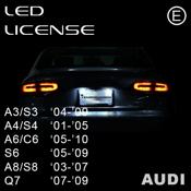 Audi License LED 2003-