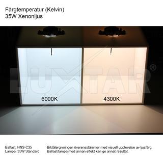 Xenon Extraljuslampa