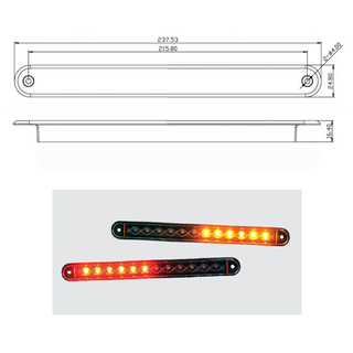 Strip Lamp 235 Rear Black