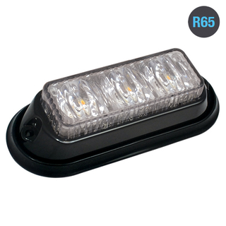 3LED Warning Light R65 Amber