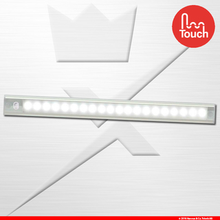 410mm Interior Strip Touch Silver