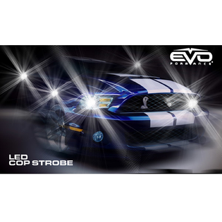 6W LED COP STROBES - WHITE