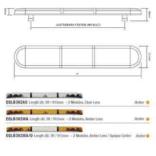 Takljusramp EQ 915mm - Clear