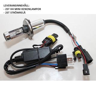 H4-Mini Bi-xenonlampor 6000K